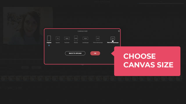 Choose canvas size
