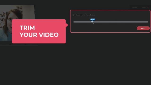 Trim your video