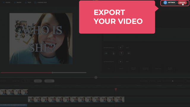 Export your video
